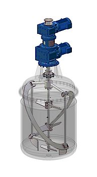 Koaxial-Rührmaschine für Wachsschmelze / Coaxial-Agitator for Polymerwax