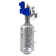 beheizbare Rührwelle mit Wendelrührer für Kunststoffproduktion / Heatable shaft with helical ribbon for plastics production